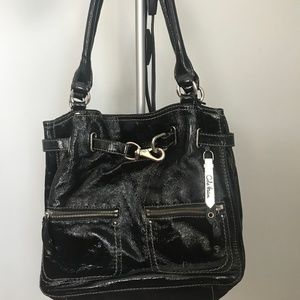 Cole Haan Black Patent Leather Bag